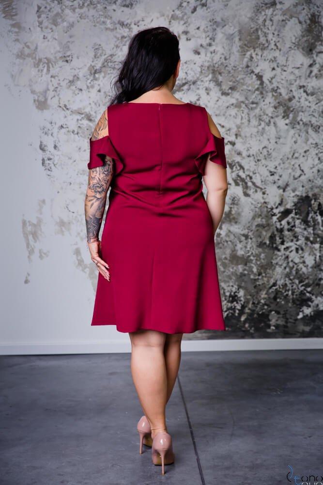 Bordowa Sukienka BARBIE Plus Size