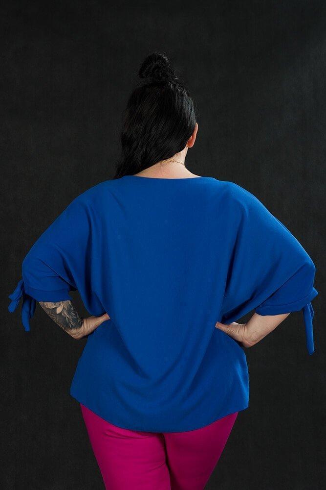 Chabrowa BOW bluzka damska oversize plus size