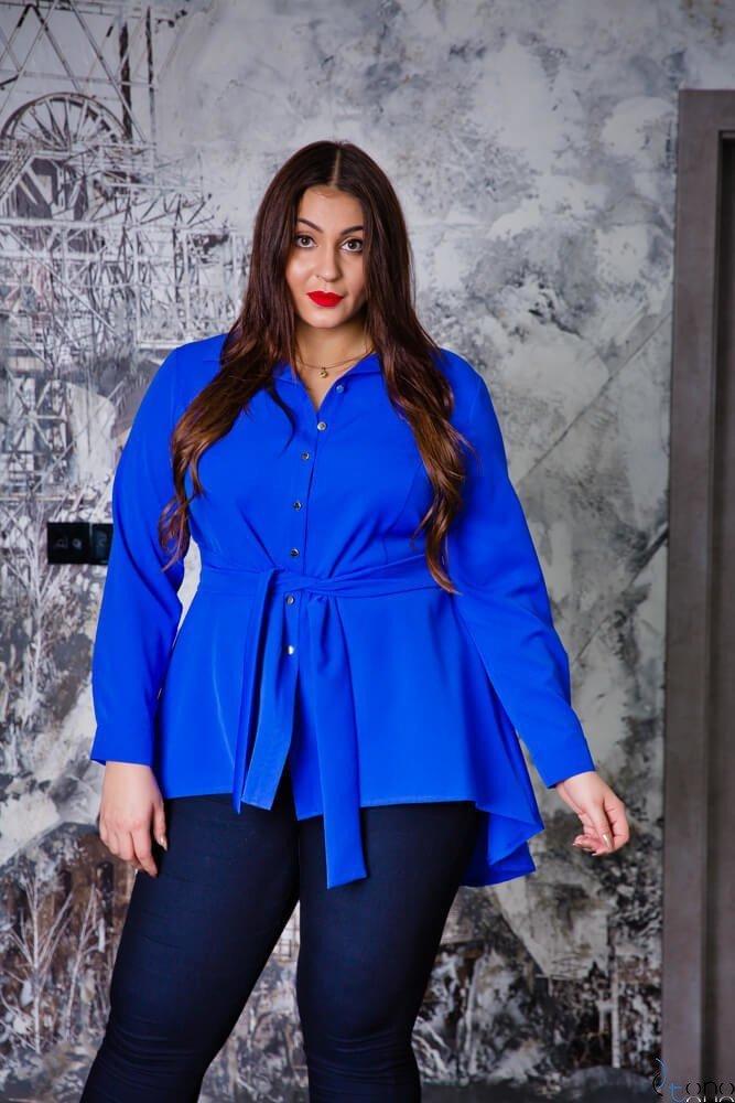 Chabrowa Koszula damska LANICA Plus Size
