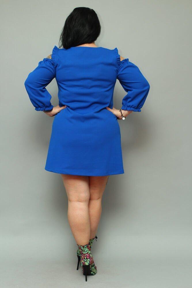 Chabrowa Sukienka POLLY Trapezowa Plus Size