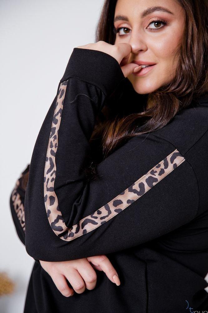 Czarna Bluza COLECT Plus Size
