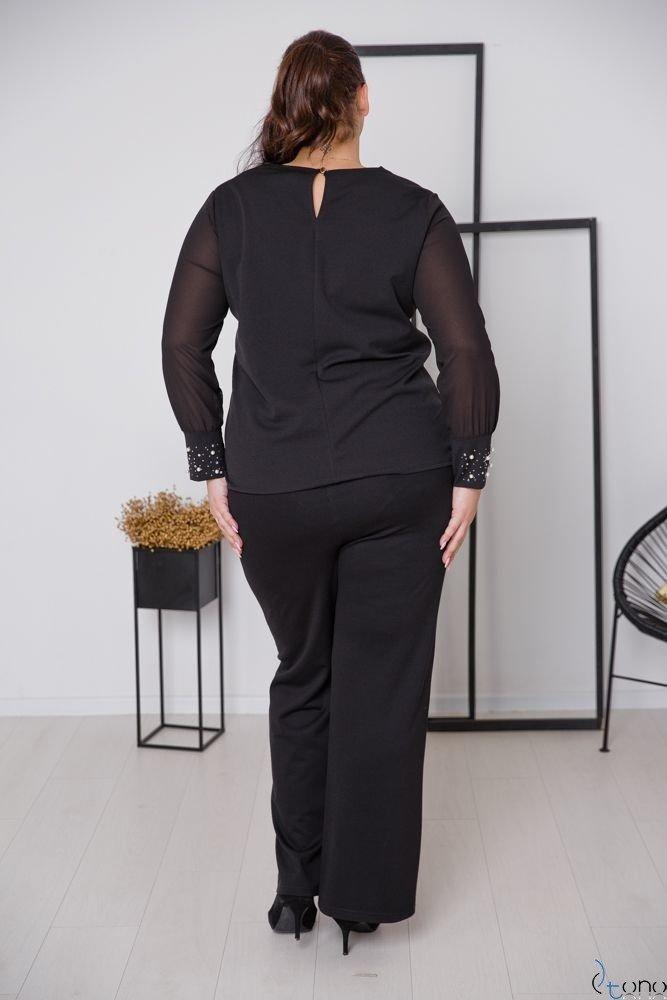 Czarna Bluzka DEFENEY Plus Size