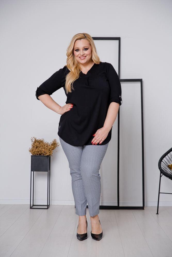 Czarna Bluzka JUSTIN Plus Size