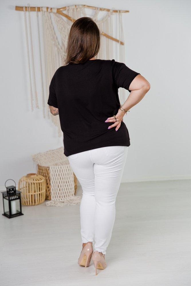 Czarna Bluzka NATURE Plus Size