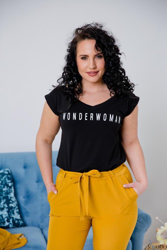 Czarna Bluzka WONDER Plus Size
