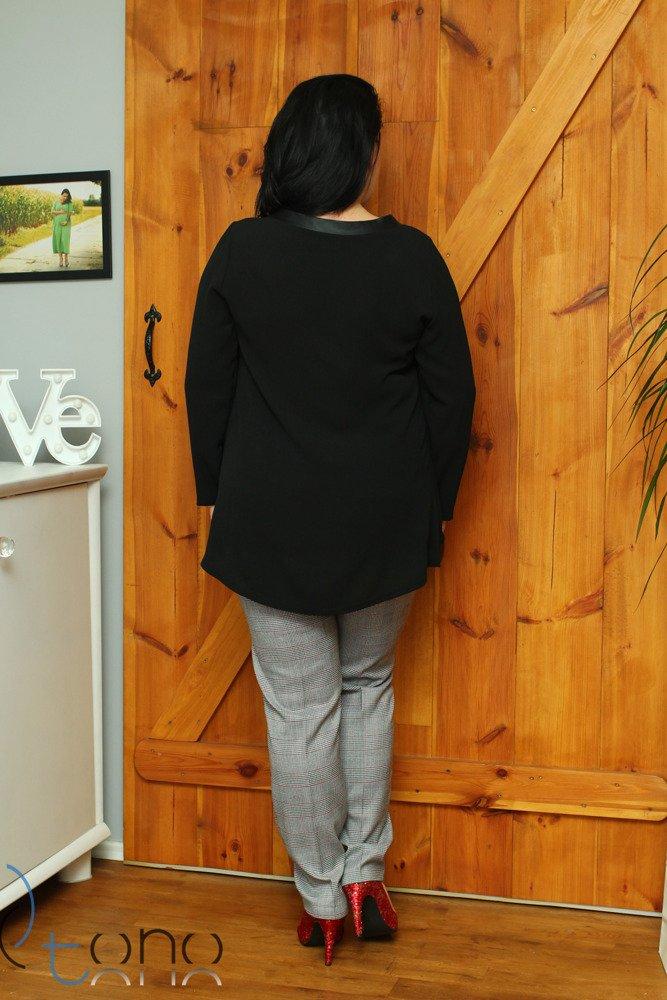 Czarna Bluzka damska rozkloszowana Katja Size Plus