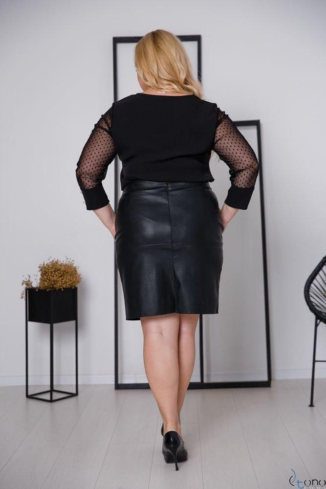 Czarna Spódnica DEZMA Plus Size