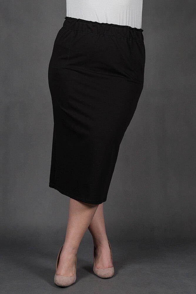 Czarna Spódnica ELICIA Ołówkowa Maxi