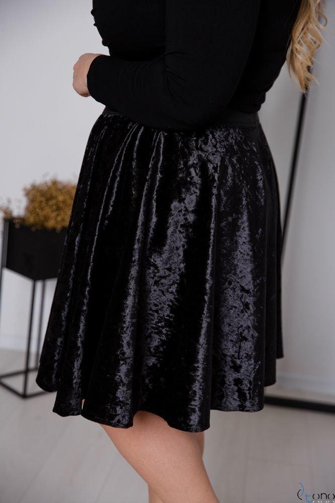 Czarna Spódnica WELURA Plus Size