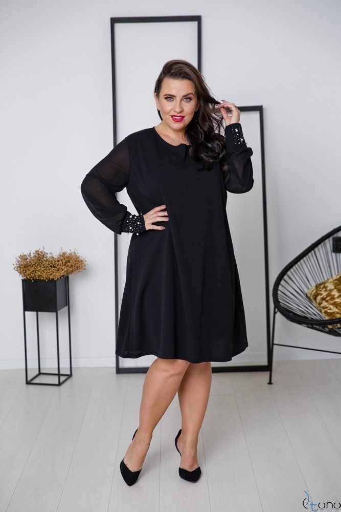 Czarna Sukienka DEVELEY Plus Size