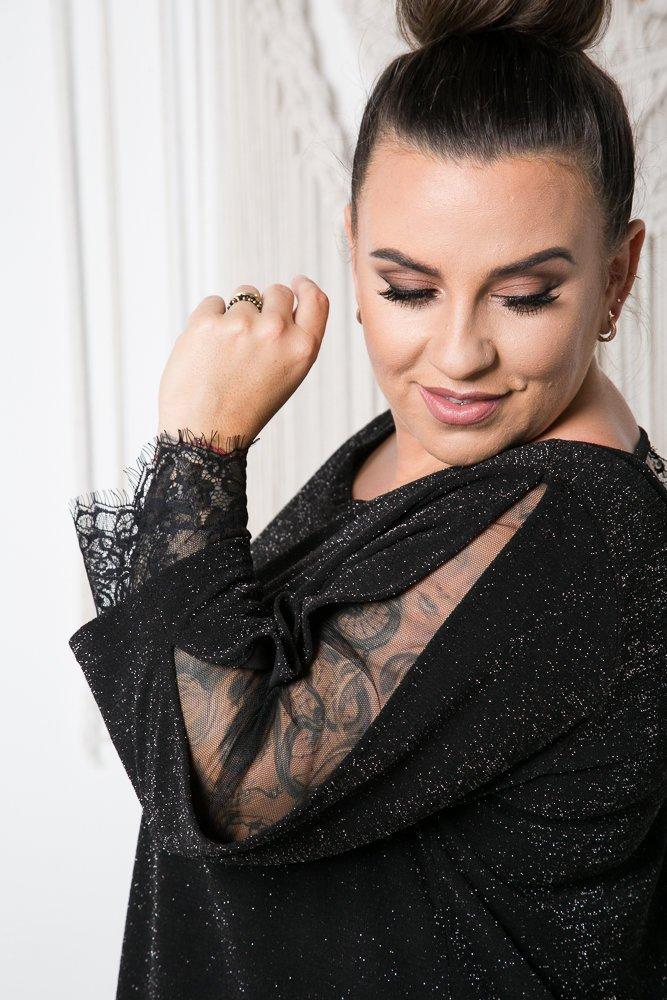 Czarna Sukienka GANTIO Plus Size