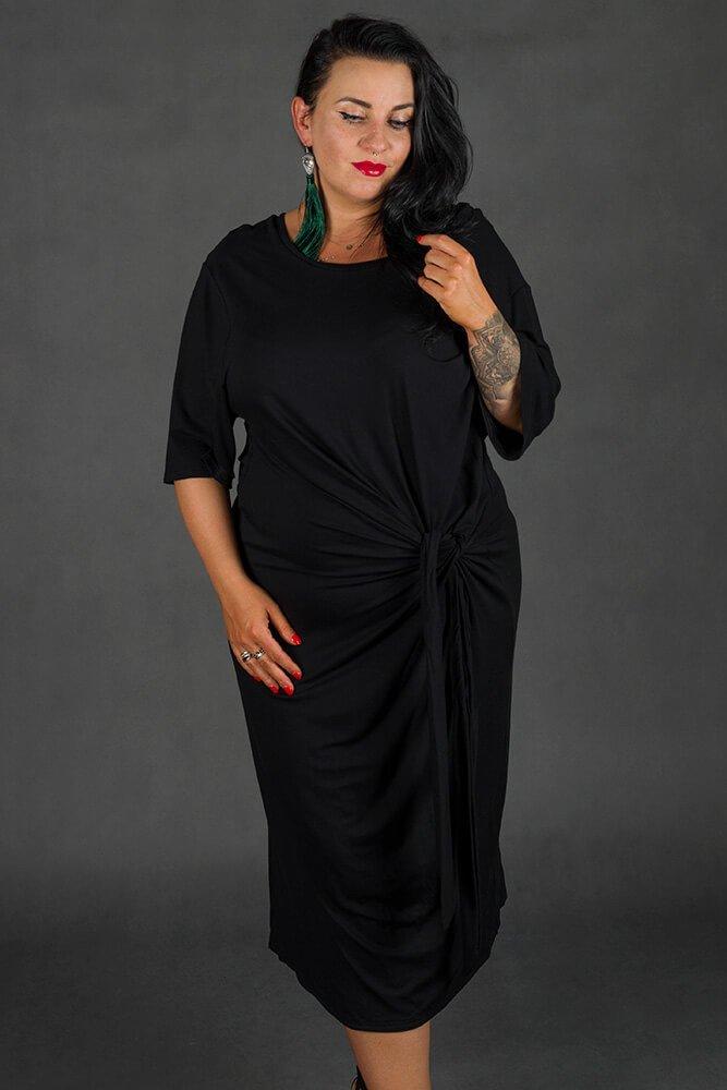 Czarna Sukienka GORDES Casual Plus Size