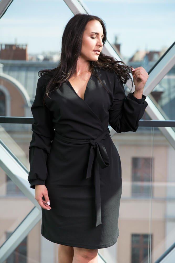 Czarna Sukienka KJARA  Unikalna Plus Size