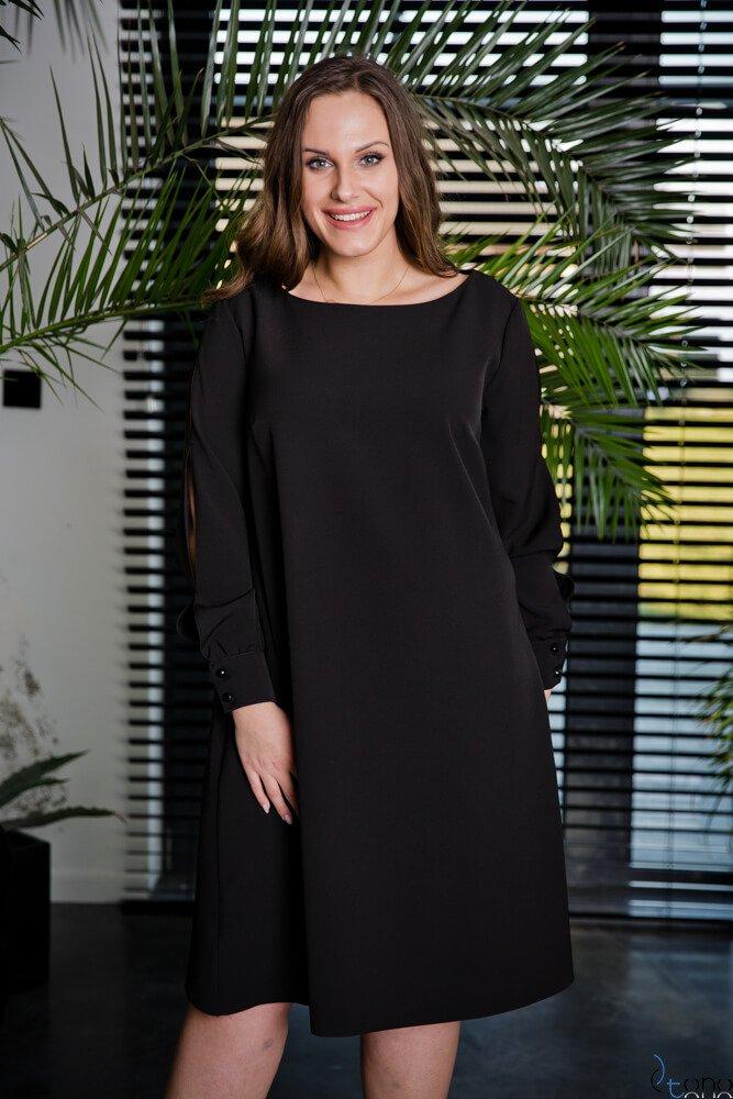 Czarna Sukienka LABEL Plus Size