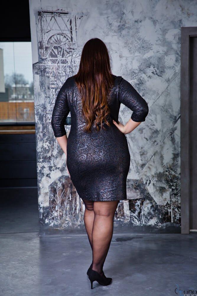 Czarna Sukienka LERRIDA Plus Size