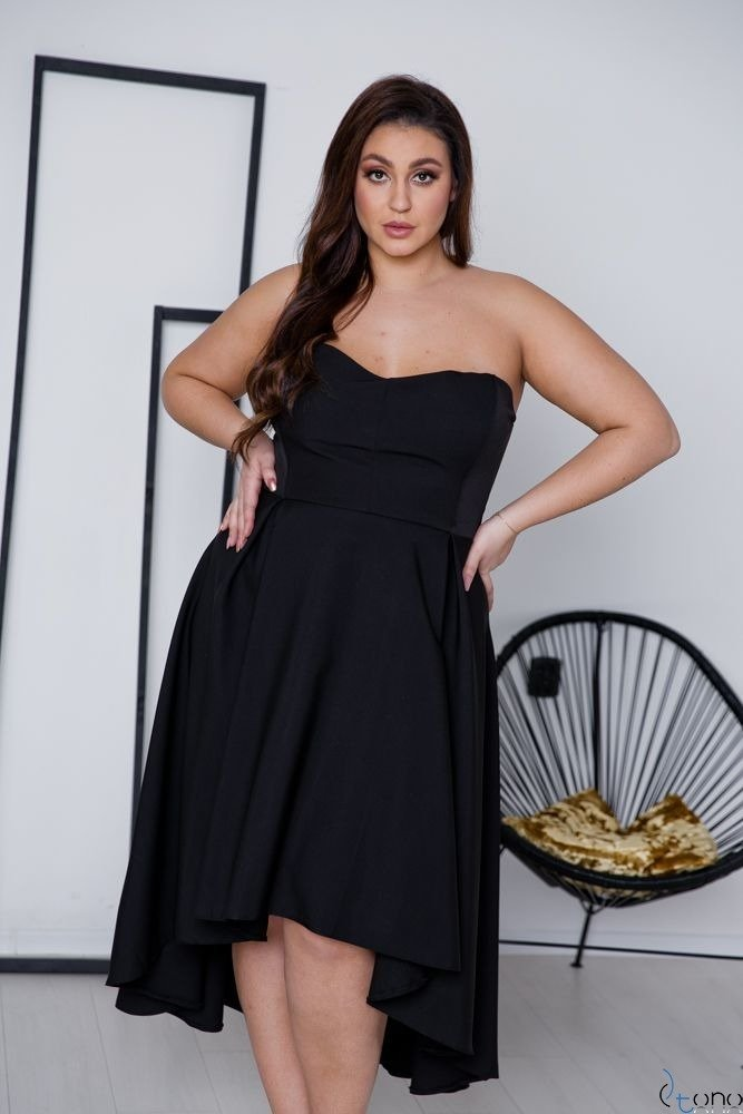 Czarna Sukienka MARELIA Plus Size