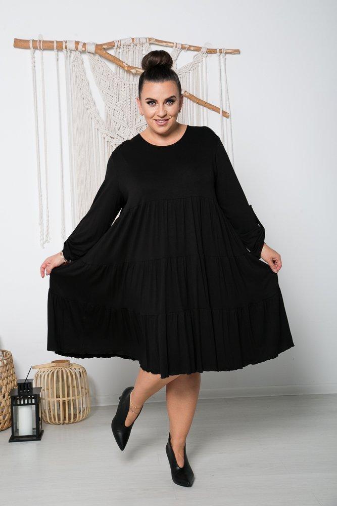 Czarna Sukienka MARSI Plus Size