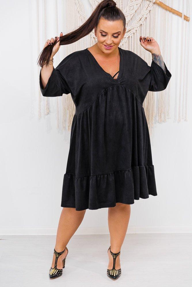 Czarna Sukienka MORFA Plus Size