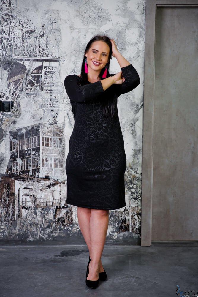 Czarna Sukienka ROZALY Plus Size