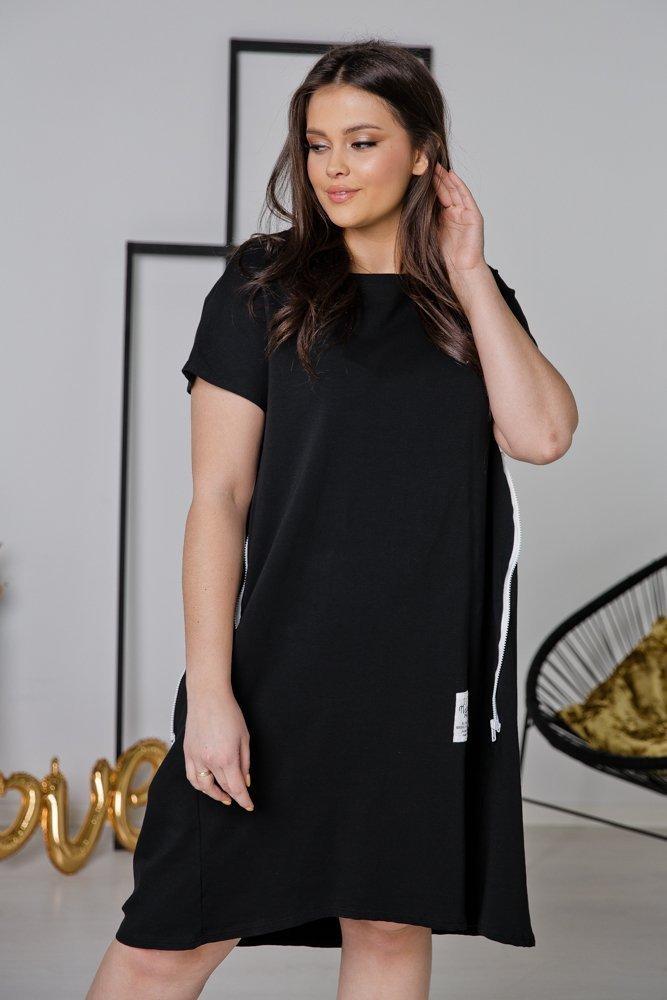 Czarna Sukienka STENA Plus Size