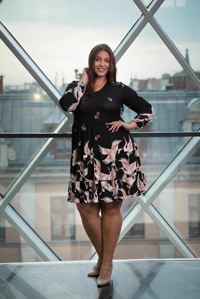 Czarna Sukienka TIFANY Plus Size