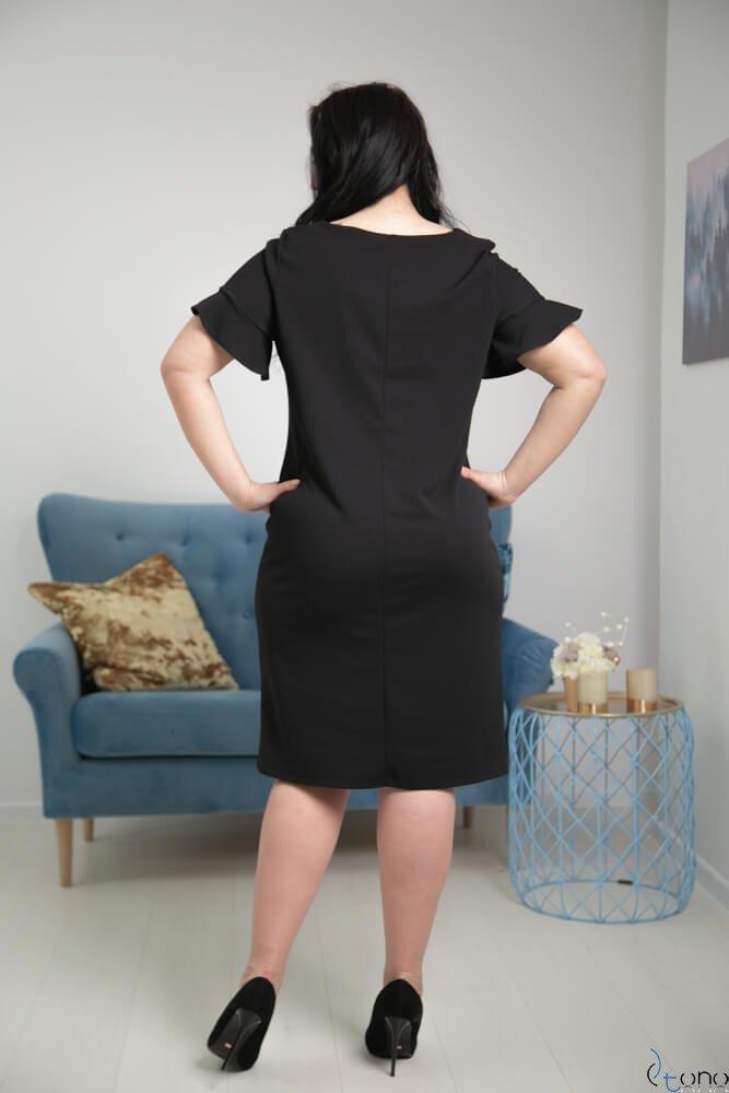 Czarna Sukienka VELMA Plus Size