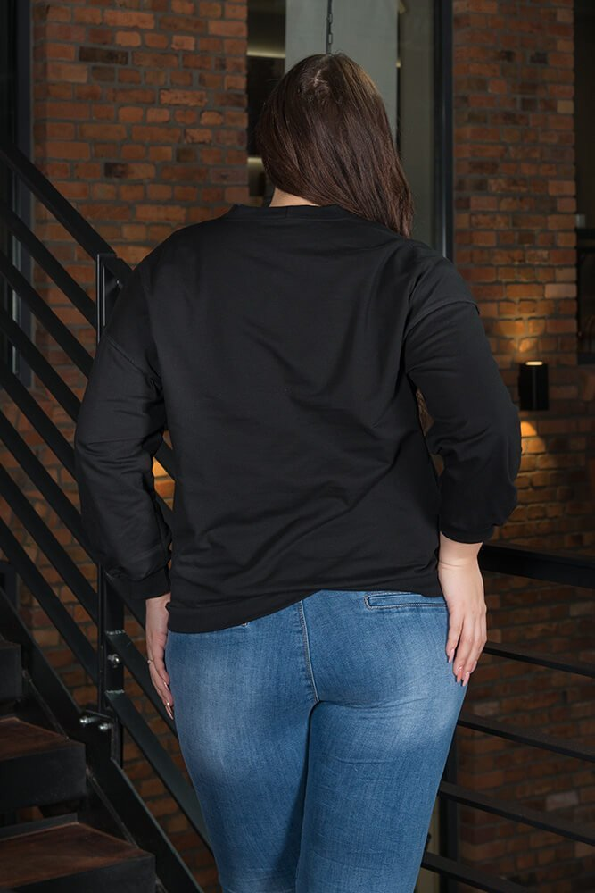 Czarna bluza damska SUPER PLUS SIZE