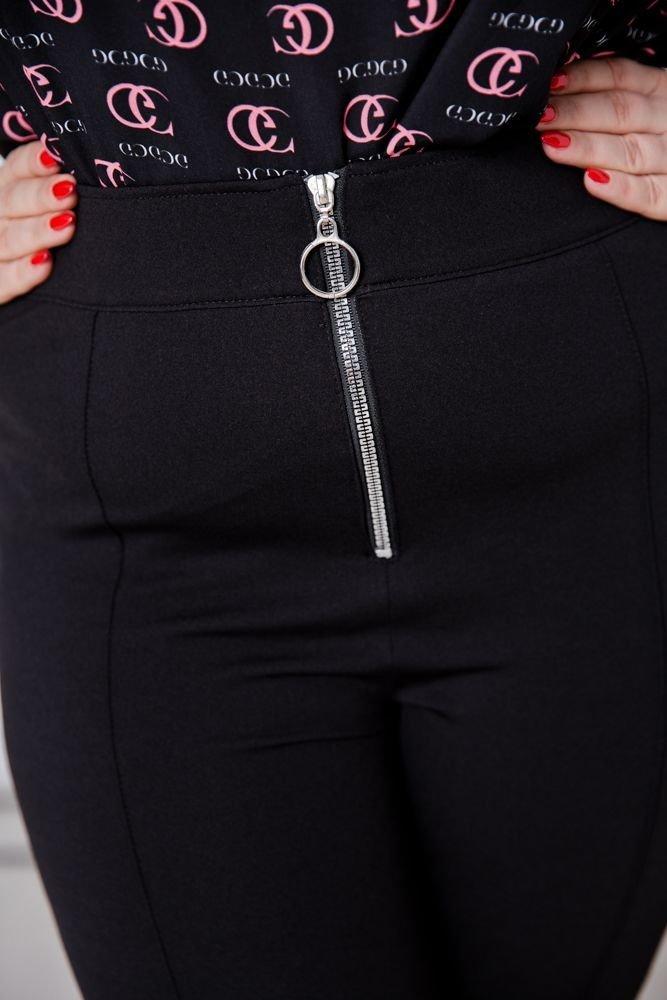Czarne Spodnie KASTE Plus Size