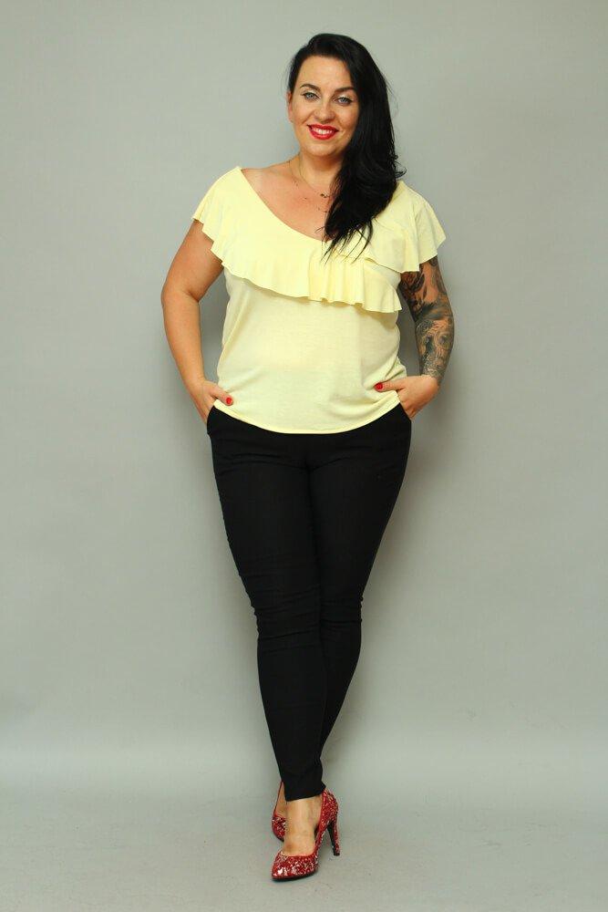 Czarne Spodnie damskie AZURO Plus Size