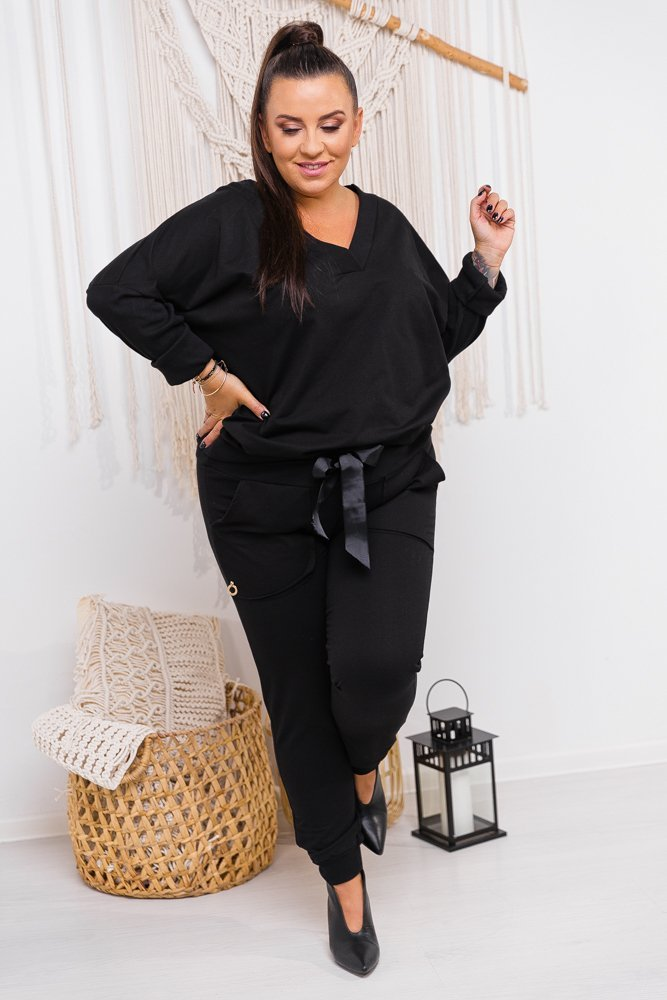 Czarny Dres WINNER Plus Size