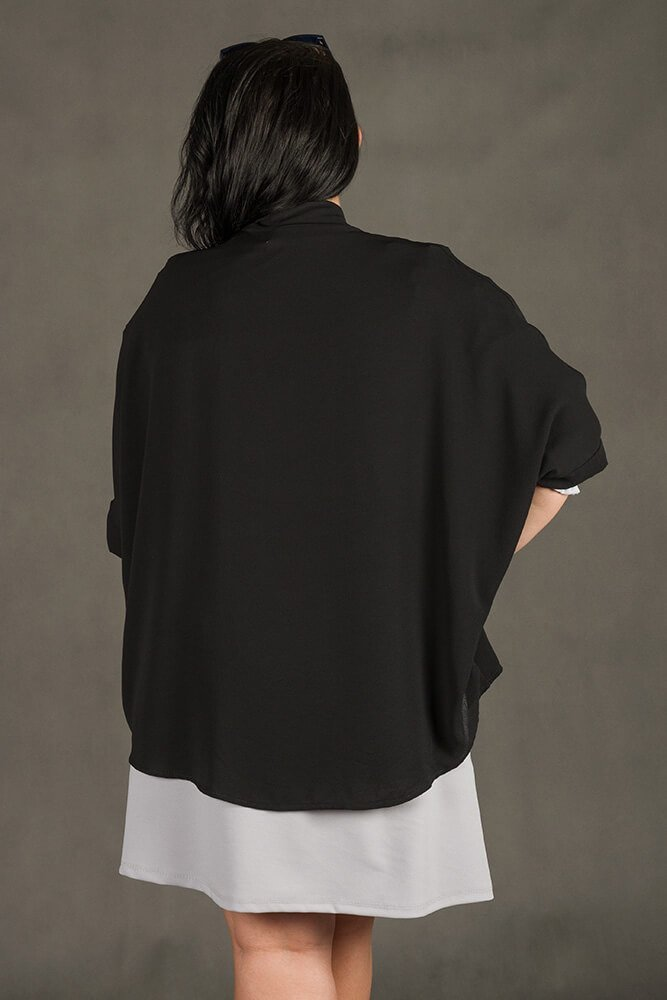 Czarny Kardigan damski MATTINA Narzutka Plus Size