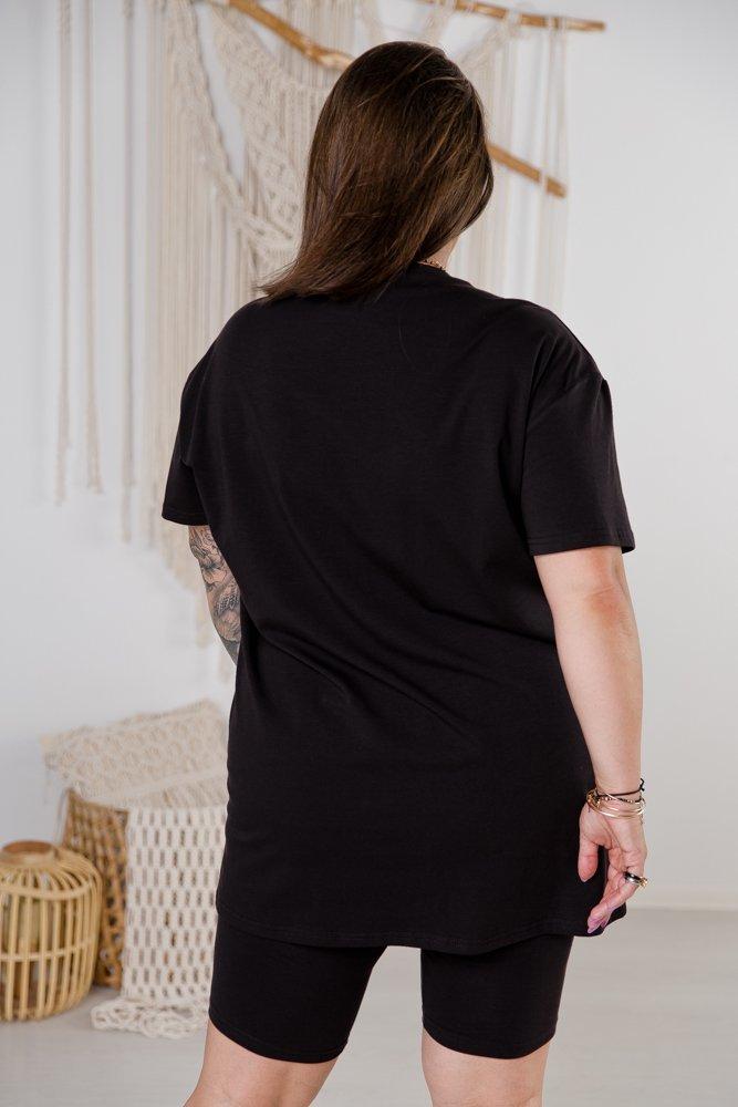 Czarny Komplet Dresowy MINOU Plus Size