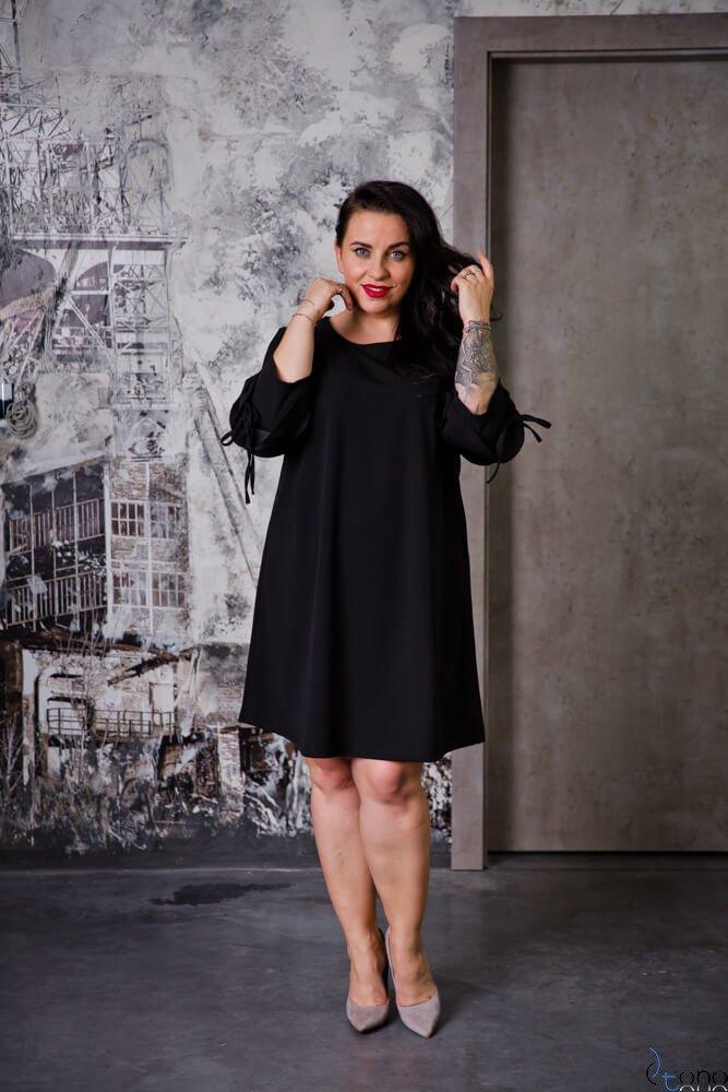 Czarny Sukienka AVRIL Plus Size