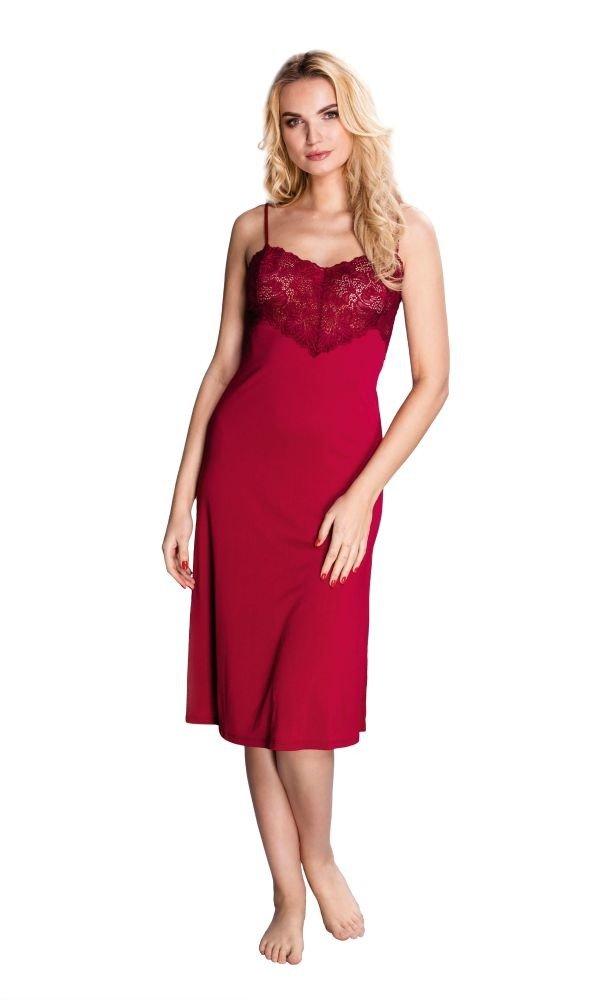 Czerwona Koszula Nocna FLAMENCO Plus Size