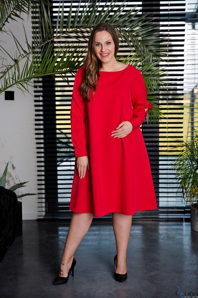 Czerwona Sukienka LABEL Plus Size