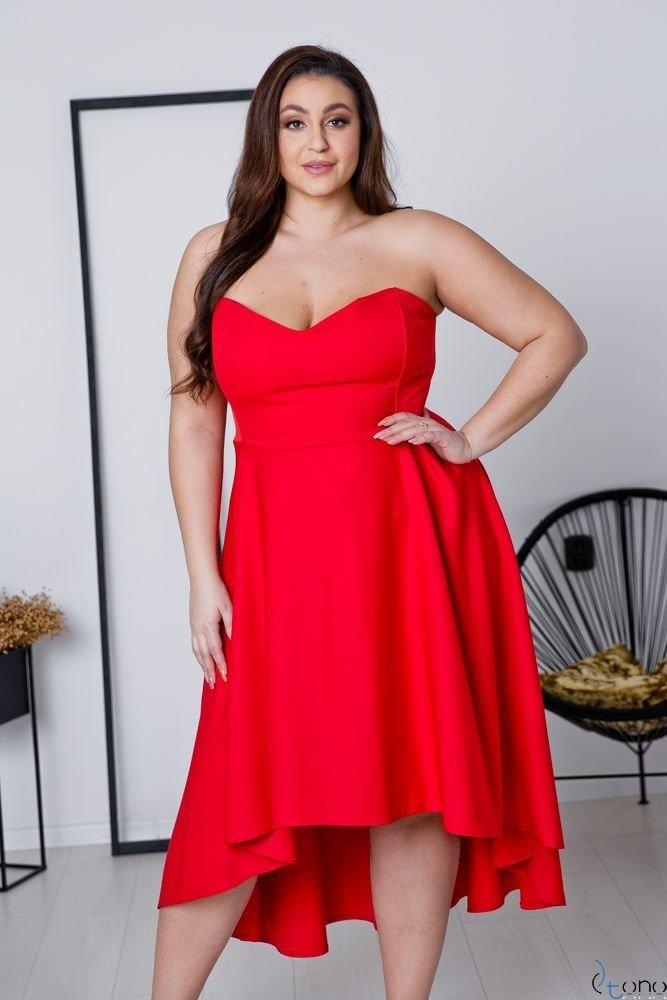 Czerwona Sukienka MARELIA Plus Size