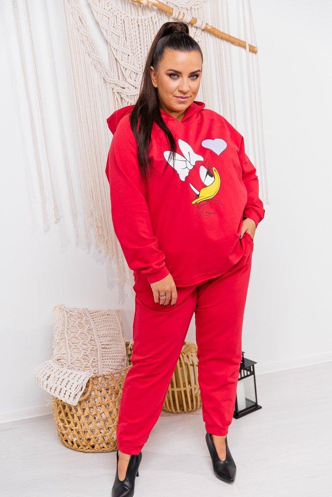 Czerwony Dres SWEETY Plus Size