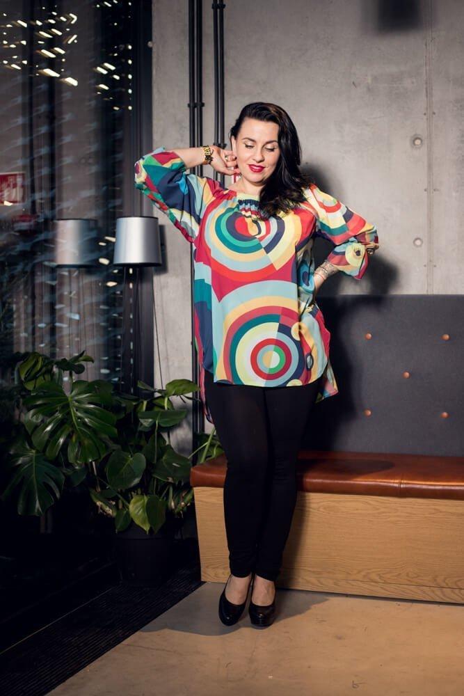 Damska bluzka MAGNOLIA Zwiewna Plus Size wzór 1