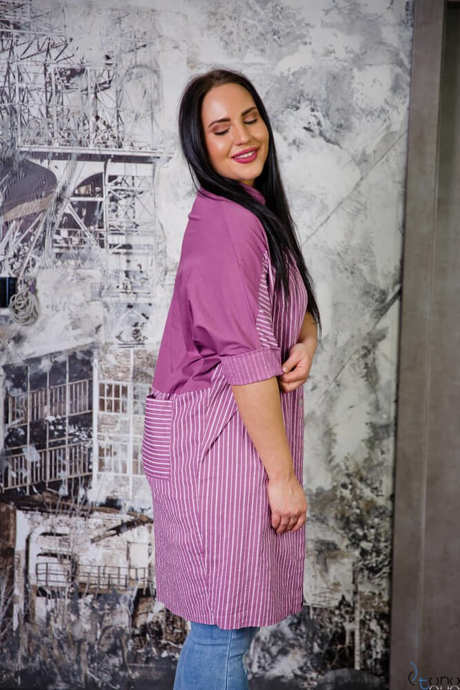 Fioletowa Tunika TOMBA Plus Size