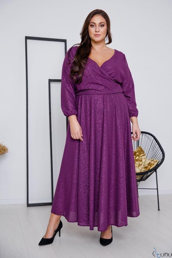 Fioletowy Sukienka LUMISSA Plus Size