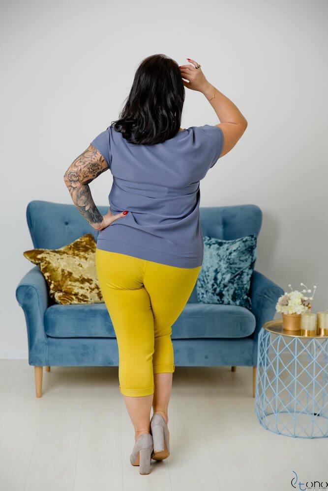 Grafitowa Bluzka CEZARA Plus Size