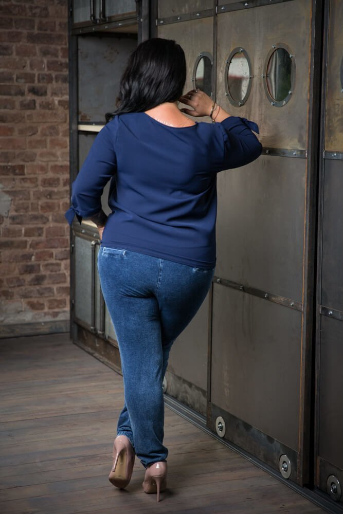Granatowa Bluzka KORINA Plus Size