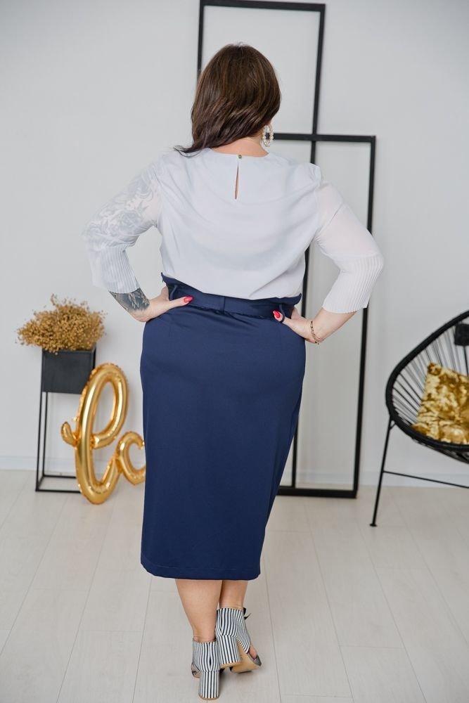 Granatowa Spódnica DEZERTA Plus Size