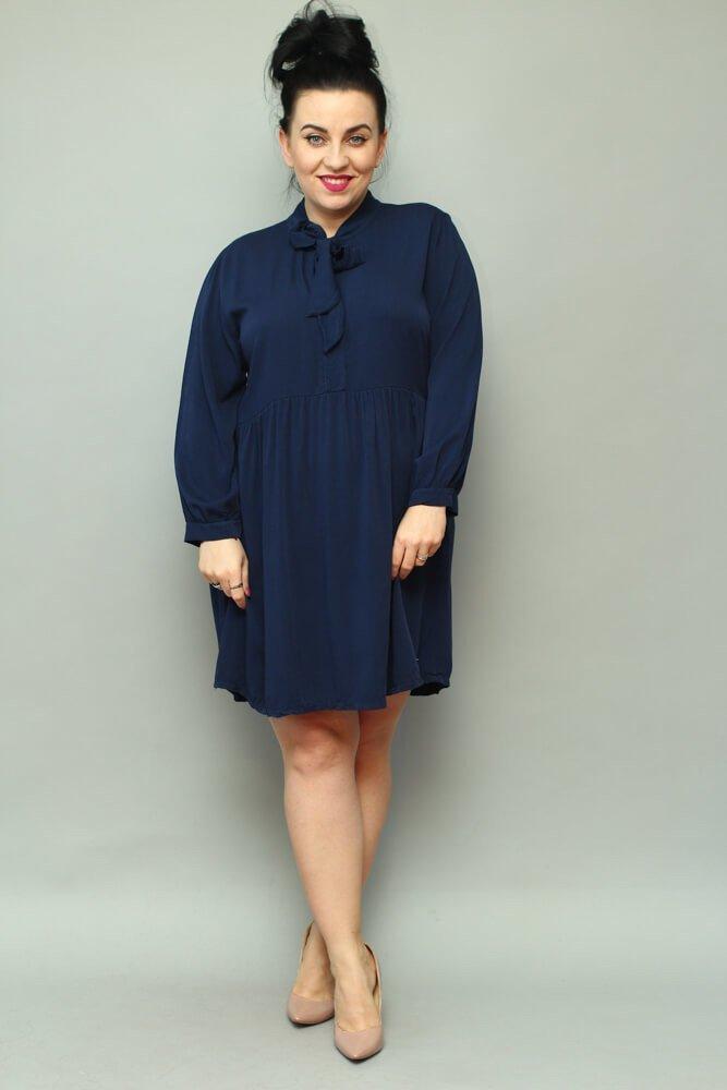 Granatowa Sukienka ANCONA