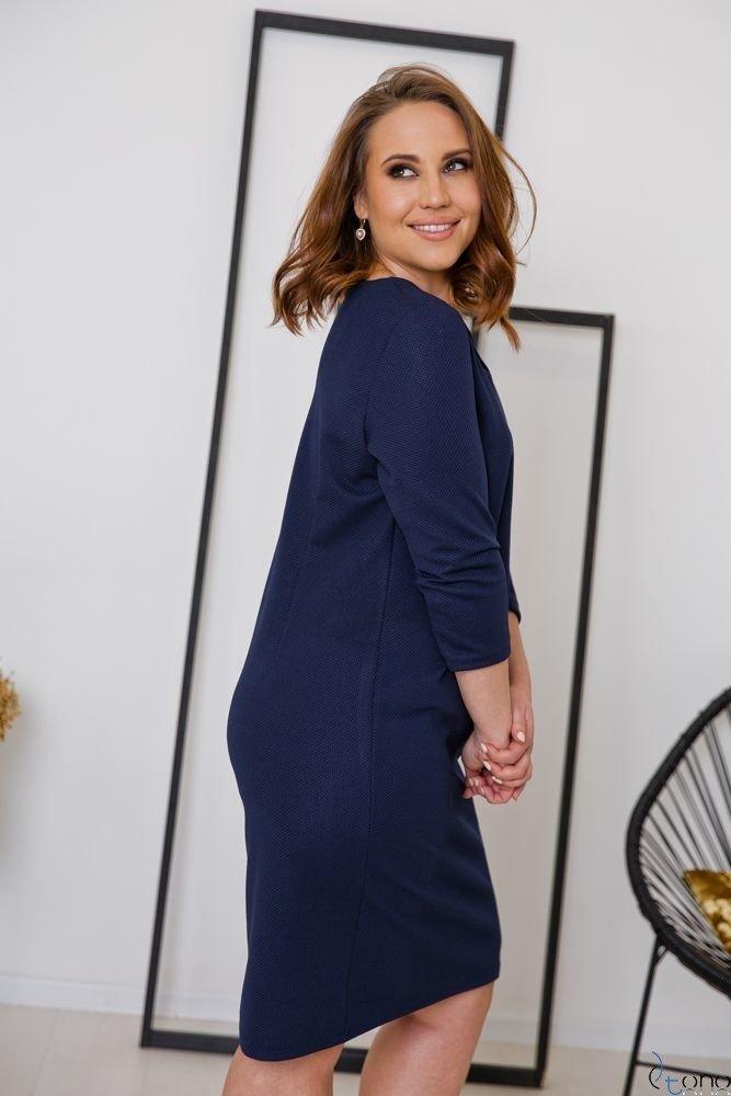 Granatowa Sukienka CLAUDIA Plus Size