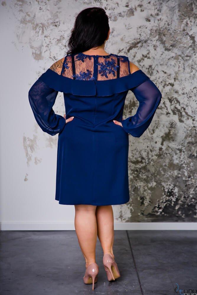 Granatowa Sukienka INEZ Plus Size