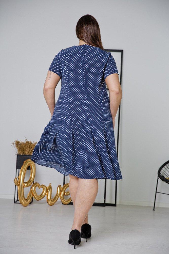 Granatowa Sukienka LILA Plus Size Wzór 10