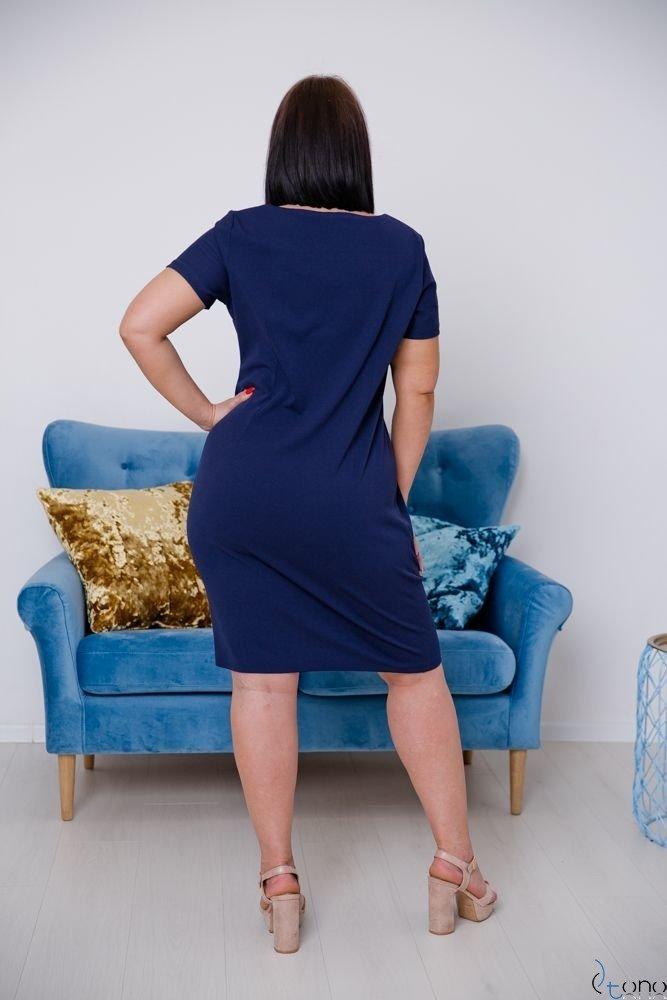 Granatowa Sukienka MELIA Plus Size
