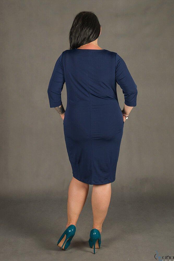 Granatowa Sukienka RAISA Plus Size