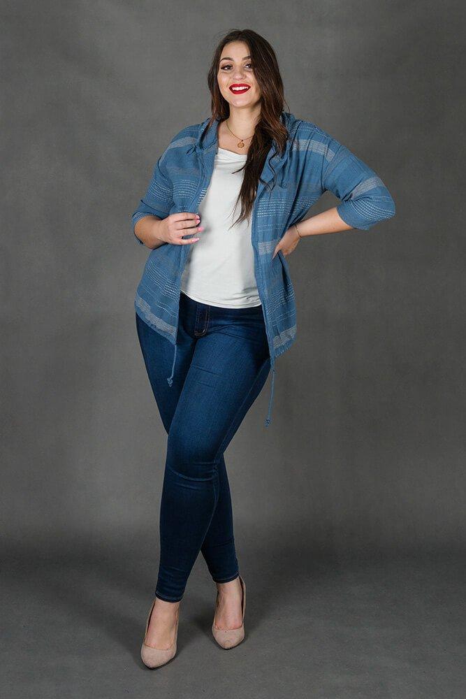 Jeansowy Kardigan LERIDA Plus Size Narzutka